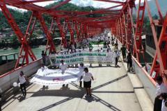 El Vraem marcha por la paz y contra la violencia narcoterrorista