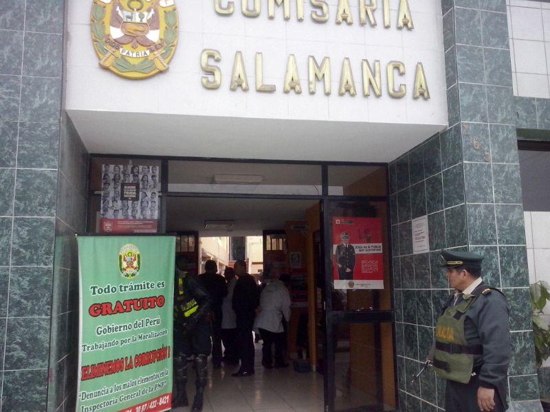Hombre murió tras recibir disparo en comisaría de Salamanca