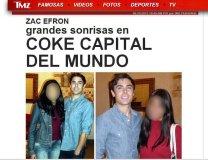 Tras visita de  Zac Efron, llaman al Cusco capital de la coca