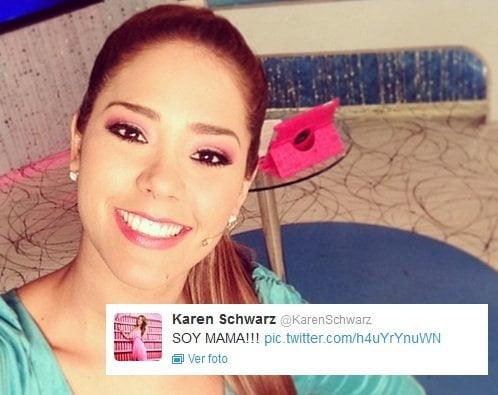 "Karen Schwarz anuncia en redes sociales: ""SOY MAMA!!!"""