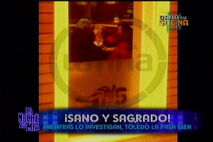 Alejandro Toledo fue ampayado bebiendo licor en Surco ad portas de citación