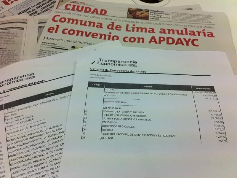 APDAYC facturó S/. 427 mil a ministerios, municipios y otras entidades