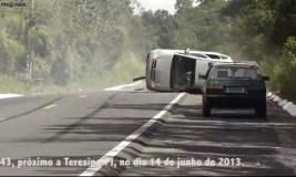 Video impactante: Graba violento accidente en carretera de Brasil sin querer