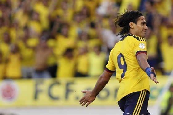 Falcao García pieza importante en la selección colombiana que obtuvo hoy su clasificación a Brasil 2014.