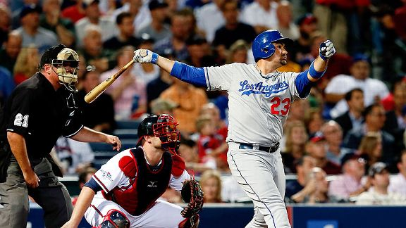 Los Dodgers consiguieron un gran triunfo en Atlanta sobre los Bravos.