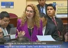 Eliane Karp arremete contra fujimoristas y apristas en Fiscalización