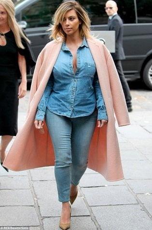 Kim Kardashian luce subida de peso e irreconocible en recientes fotos