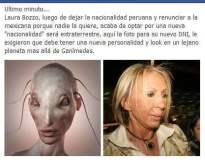 Comparan a Laura Bozzo con un extraterrestre en Facebook