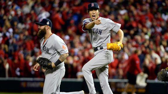 Boston cerró el partido con matanza en primera originada por su pitcher cerrador Koji Uehara.
