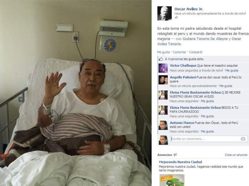 [FOTO] Óscar Avilés en franca mejoría saluda desde hospital
