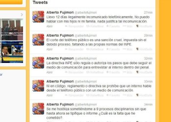 """Alberto Fujimori: """"Incomunicación telefónica, es una sanción cruel"""""""