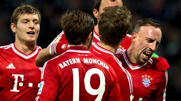 Bayern Munich mostró su contundencia para golear 7-0 al Werder Bremen.