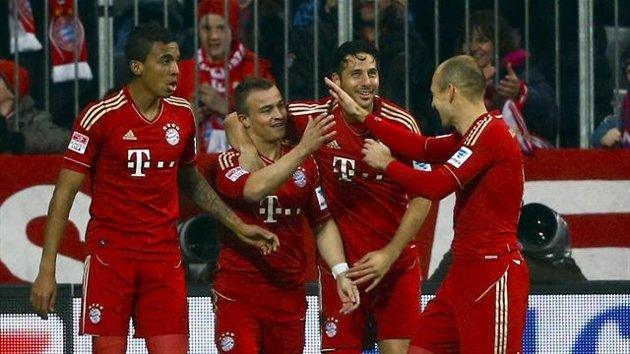 En el último partido entre Bayern Munich y Hamburgo, los bávaros golearon por 9-2 con cuatro goles de Claudio Pizarro.