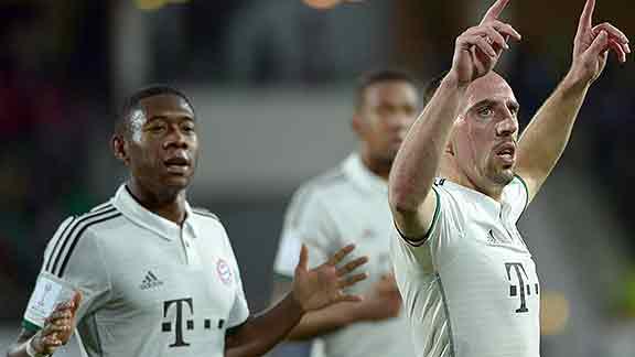 Ribéry abrió con su gol el camino del Bayern Munich hacia la final del Mundial de Clubes