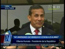"""Ollanta Humala contra la TV: """"Ponen cualquier cosa de programa y humillan"""""""