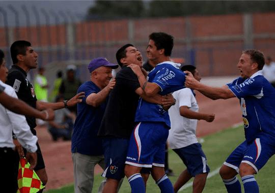Unión Comercio celebra su permanencia en la primera división del fútbol peruano.