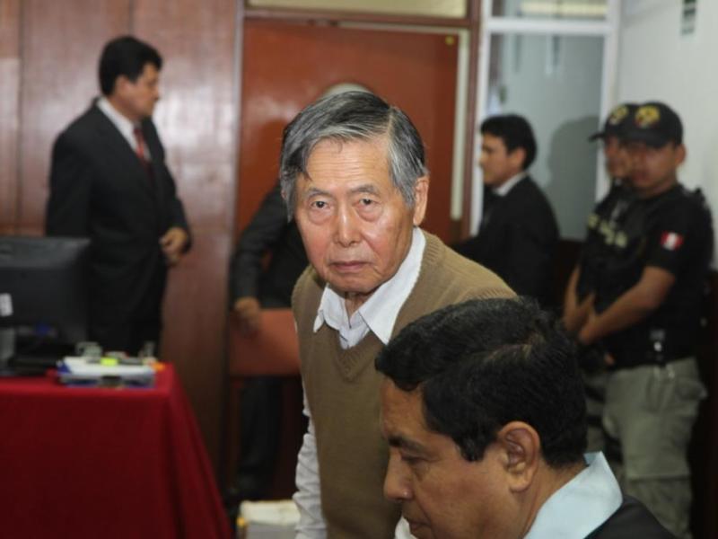 Alberto Fujimori retornó a la Diroes tras resonancia magnética