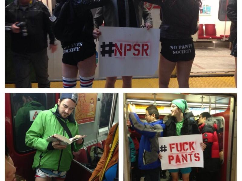 """[VIDEOS] Flashmob: Así fue el """"viaje sin pantalones"""" en estaciones del metro"""