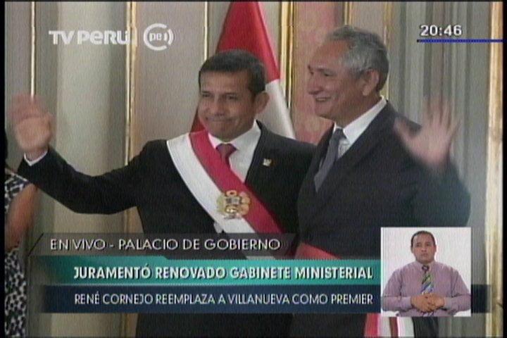 Ollanta Humala juramenta a nuevo primer ministro René Cornejo