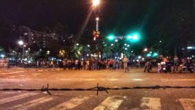 Fotos Twitter / Venezuela: Enfrentamientos y varios heridos por represión en Altamira
