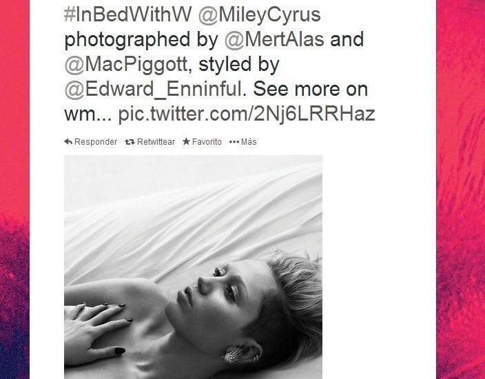 Desnudos: Miley Cyrus, Cindy Crawford y Naomi Campbell posan para W Magazine
