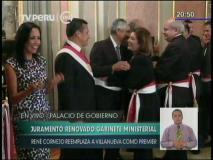 [VIDEO] Nadine Heredia celebra juramentación de gabinete Cornejo