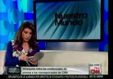 [VIDEO CNN] Chavistas hostigan a Patricia Janiot y 'buscan' supuesta droga en sus zapatos
