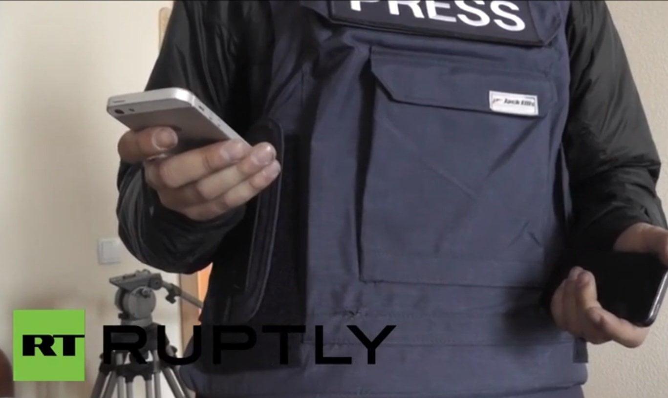 FOTO Y VIDEOS RT / Ucrania: Francotirador dispara contra periodistas de RT en Kiev