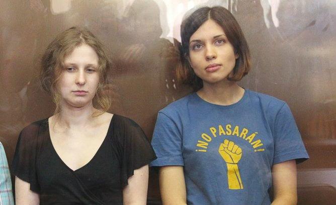 Foto Cadena Ser / Integrantes de las Pussy Riot detenidas en sede de juegos de Invierno Sochi