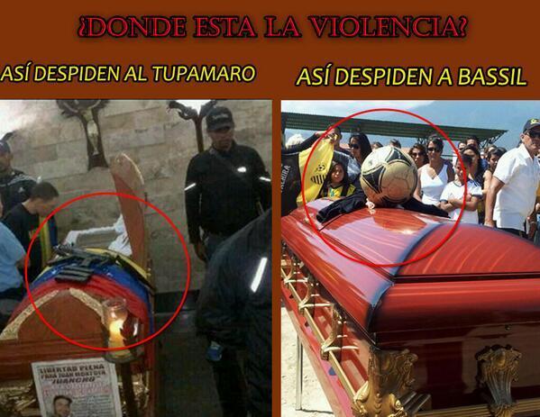 Muerte en Venezuela: A ex Tupamaro lo velan con fusil y a estudiante con pelota