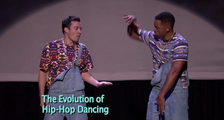 [VIDEO] Will Smith y Jimmy Fallon cuentan la historia del 'Hip Hop' bailando