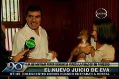 Eva Bracamonte cuestiona nuevo juicio oral y presenta a su bebé
