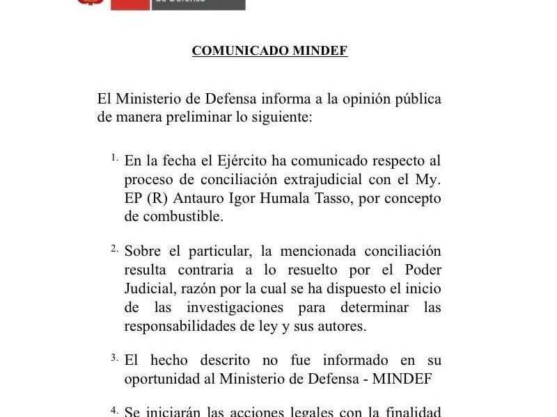 Antauro Humala deberá devolver S/. 70 mil por devengados de gasolina