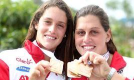 Las hermanas Cuglievan (Maria Delfina y Natalia) fueron las primeras deportistas que se consagraron en ODESUR 2014.