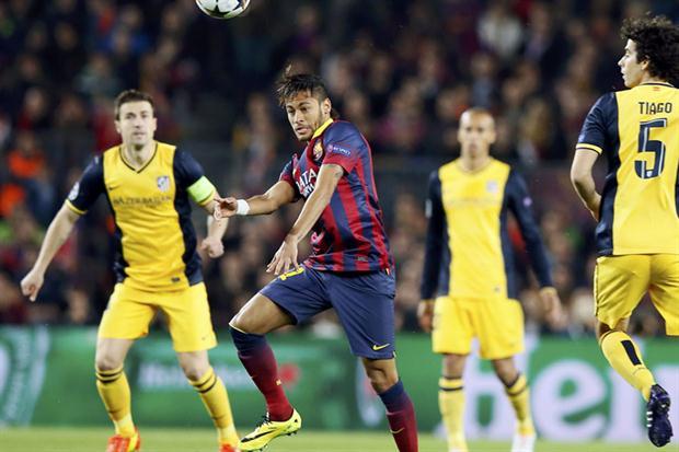 Neymar fue el autor del gol del empate en el encuentro entre Barcelona y Atlético de Madrid.