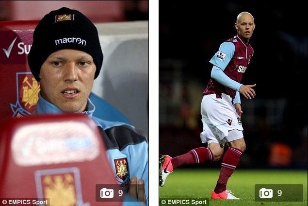 Foto MailOnLine / Joven jugador del West Ham fallece tras padecer cáncer testicular