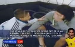 [VIDEO] Emotivo: Radamel Falcao llora con palabras de niño colombiano