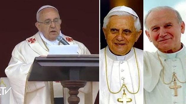 [VIDEO] Juan Pablo II y Juan XXIII: Así fueron declarados santos por el Papa Francisco