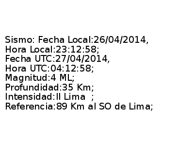 Sismo de leve intensidad se sintió en Lima esta noche