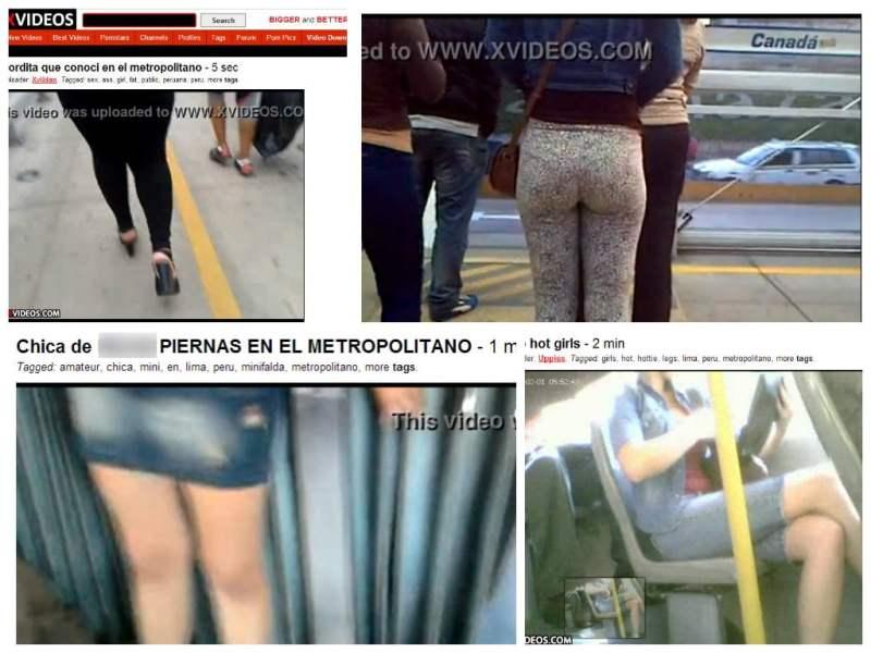 Metropolitano: Depravados graban a mujeres y suben videos en páginas XXX