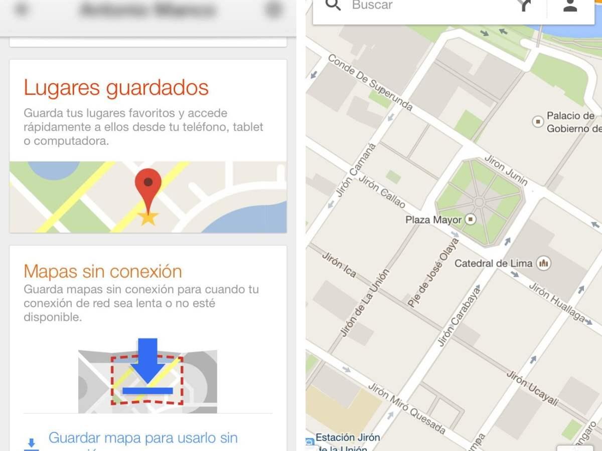 Google Maps se actualiza y permite usar mapas sin conexión