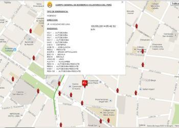 Incendio en el Centro de Lima moviliza a 17 unidades de los bomberos
