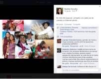 Primera dama Nadine Heredia saluda a las madres en su día