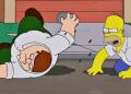 [VIDEO] Homero Simpson pelea con Peter de 'Family Guy' en episodio épico