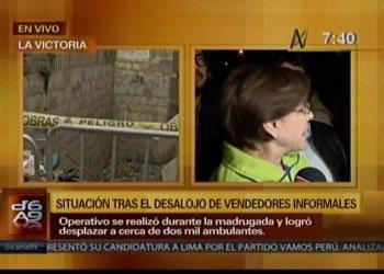 Desalojan a 2000 ambulantes de Manzanilla en La Victoria