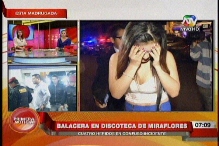 Cuatro heridos deja gresca y balacera en discoteca de Miraflores