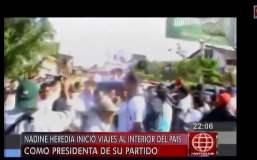 [VIDEO] Huelguistas pretendieron bloquear ingreso de Nadine Heredia a Yurimaguas