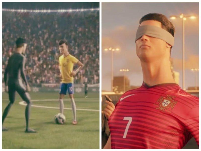 [VIDEOS] Neymar enfrenta a clones y Ronaldo anota desde fuera del estadio