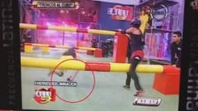 [VIDEO] Calle 7: Terrible rotura de tobillo en vivo sufre participante Sofi Tanaka