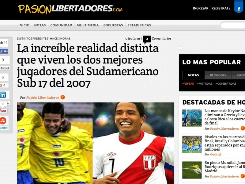 "Reimond Manco: ""No acepto comparaciones peyorativas con James Rodríguez"""